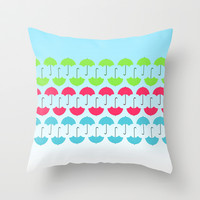 Umbrella Throw Pillow by hannahclairehughes
