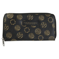 Supernatural Symbols Accordion Zipper Wallet
