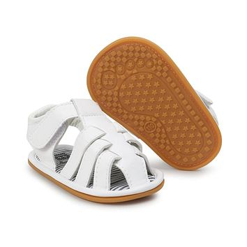 New Baby Boys Leather sandals with rubber sole