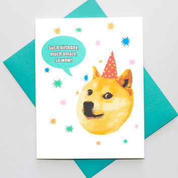 Happy Birthday Doge Card