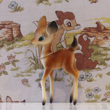 Vintage Kitsch Deer - So Cute Babycham Bambi Plastic Celluloid