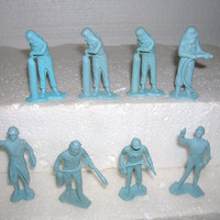 1950's MARX 54mm  Figures Cape Canaveral Ground CrewToy Soldier Playset