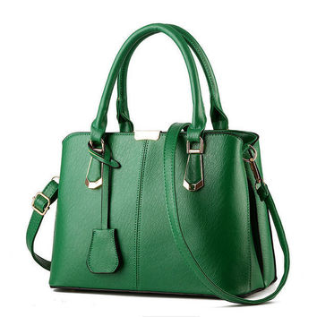 Green Handbag Shoulder Bag Tote Purse Fashion Women Leather Messenger Hobo Bag