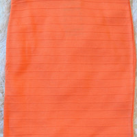 Such A Lady Skirt: Tangerine