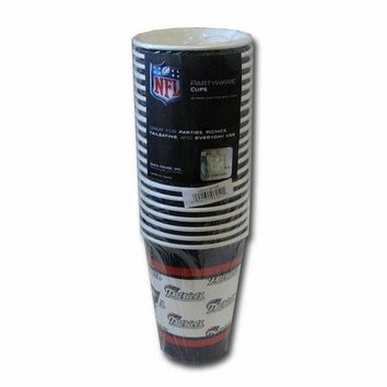 LMFHJ2 New England Patriots Disposable Paper Cups - 20 Pack