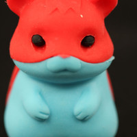 Red and Blue Hamster Eraser Series Two