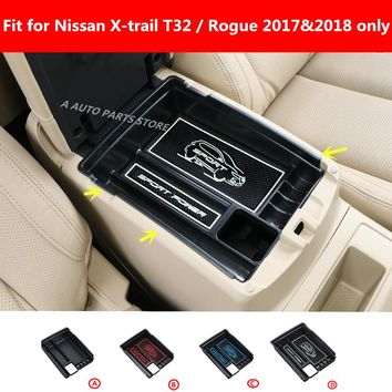 ABS Plastic Central Storage Pallet Armrest Container Box Molding Garnish For Nissan X-Trail X Trail T32 Rogue 2017 2018 Plastic