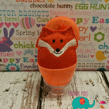 Tiny stuffed fox egg buddy, embroidered, party favor, stuffed animal, stuffie, travel toy, stuffed toy, embroidery, grab bag, easter
