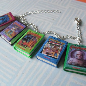 Fangirl book necklace / keychain from CharmaLlama on Etsy