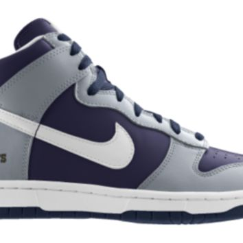 Nike Dunk High NFL Dallas Cowboys iD Custom Men's Shoes - Grey