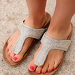 50 Shades of Charming's Sandals: Light Grey