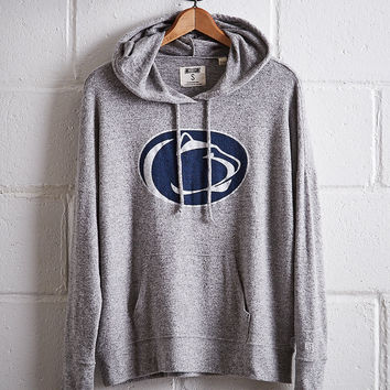 Tailgate Women's Penn State Plush Hoodie, Gray Heather