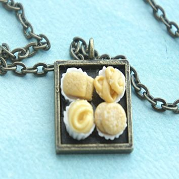 danish butter cookies necklace