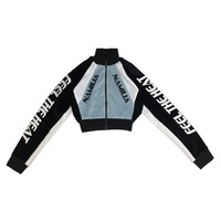 PRE ORDER MOTOCROSS VELOUR JACKET BABY BLUE