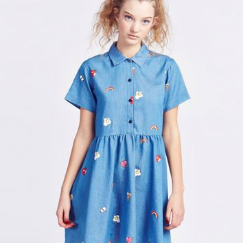 Lazy Oaf Old School Emb Dress