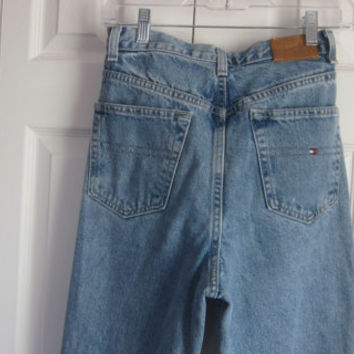 Vintage High Waisted Jeans Mom Jeans, Hipster Tommy Hilfiger High Waist  Denim Jeans, Womens Size 10 Waist 32, 80s 90s Grunge