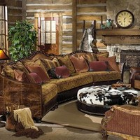 western furniture custom sectional sofa chairs and hair hide ottoman