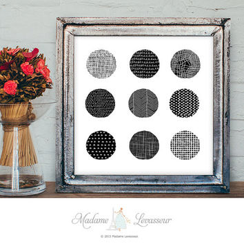 Printable Art Circle art prints Minimalist Wall Art Home Decor Abstract Art Print Zen art printable digital art geometric art print download