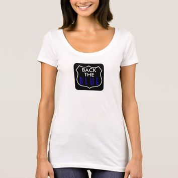 BACK THE BLUE WOMEN'S SCOOP NECK SHIRT