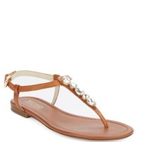 Shoes | Sandals | Jayden Leather T-Strap Thong Sandals | Lord and Taylor