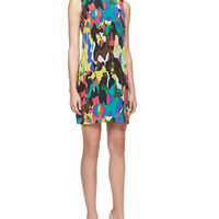 Camouflage-Print Shift Dress