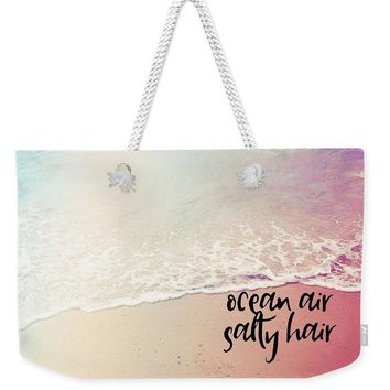Ocean Air, Salty Hair, Watercolor Art By Adam Asar - Asar Studios 1 - Weekender Tote Bag
