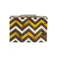 Zigzag Paneled Box Clutch | 30PonteV.com