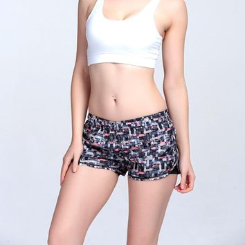 High Waist Yoga Shorts Plaid Biker Women Sports Running Quick Dry Sexy Gym Short Fitness Compression Workout Clothing Colorvalue