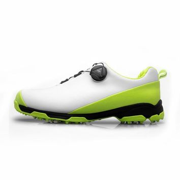 Men Golf Shoes Waterproof Anti-slip Sneaker Knobs Buckle Sports Shoes Shockproof Sneakers Male Breathable Training Sneakers