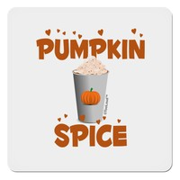 "Pumpkin Spice Latte Hearts 4x4"" Square Sticker"