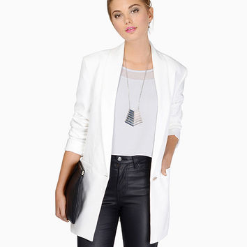 Long Sleeve One-button Blazer