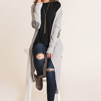 Never Too Much Duster Cardigan (Dove Grey)
