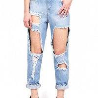 Self Destruct Boyfriend Jeans