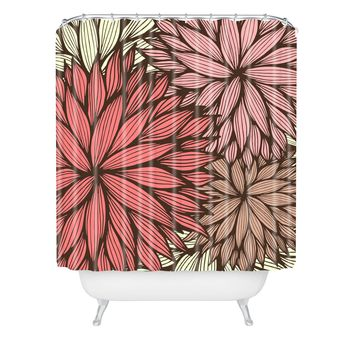 Gabi Orange Dahlia Shower Curtain