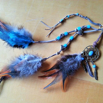 Saddle Charm, Saddle Clip, Dreamcatcher Charm, Purse Charm, Purse Clip, Boho Feather Charm, Car Charm, Saddle Feather Clip