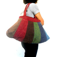 Tote bag Lady Women Bag Ethnic bag  Patchwork Bag  Bohemian Bag Multicolor Bag Shoulder Bag Hippie Boho Purse Messenger Gift Bag