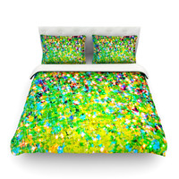 "Ebi Emporium ""Holiday Cheer"" Yellow Green Featherweight Duvet Cover"