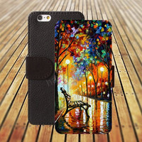iphone 5 5s case watercolor Park colorful iphone 4/4s iPhone 6 6 Plus iphone 5C Wallet Case,iPhone 5 Case,Cover,Cases colorful pattern L361