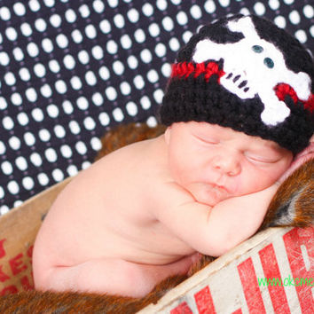 Baby Rocker Hat Skull and Crossbones hat Skully skater hat photo prop baby newborn to 6 mo Pirate hat baby Punk Rocker Photo Prop