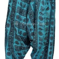 Blue Women Harem Pants Yoga Casual Trouser Hippie Gypsy Ethnic 2675