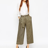 ASOS Premium Culotte with D Ring Detail