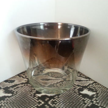 Vintage Ice Bucket Silver Overlay Man Cave Mid Century Modern Retro Home Decor New Year's Celebration Barware Ice Bucket