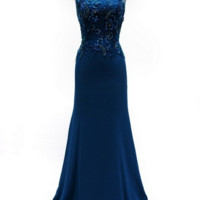 KC131561 Teal Evening Gown by Kari Chang Couture -Available in Plus Sizes