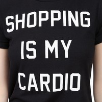 Shopping Cardio Tee - Black