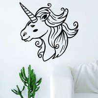 Unicorn V4 Wall Decal Sticker Vinyl Room Decor Decoration Art Bedroom Cute Magical Horse Girl Teen