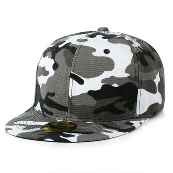 Camouflage snapback women men polyester caps blank flat camo baseball cap boy girl snapback dad hat casquette gorras