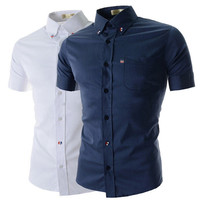 French Men's Style Short Sleeve Shirt