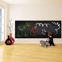 Blackboard, Chalkboard Vinyl Decal For Crayons Drawing / Adhesive Black board Sign Square, Rectangle Shape Sticker + Free White Crayons Box!