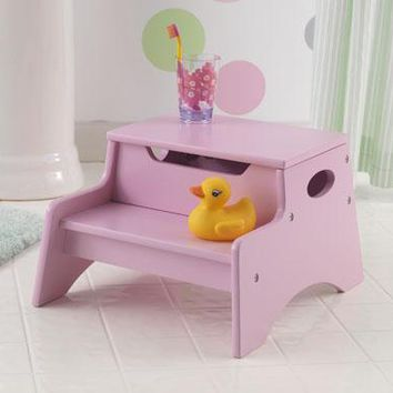 Step Up Stool Pink Finish