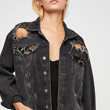 Tapestry Denim Jacket